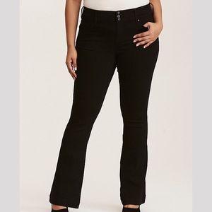 Torrid Flared Black Wash Jean Size 10R